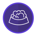 Purple Dog Bowl Icon