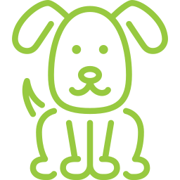 Green Dog Icon